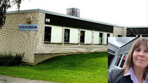 Fotomontage Minervaskolan (arkivbild) och ny rektor Eva-Lena Blom (privatbild).