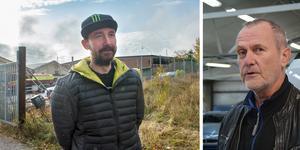 Anders och Peter Hultgren är tacksamma att räddningstjänsten var så snabbt på plats.