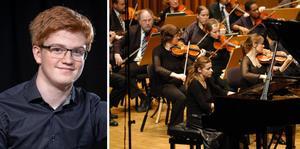 Årets vinnare av det prestigefyllda Polstjärnepriset är pianisten Vilhelm Moqvist från Götene. Foto: Pressbild Vänersborgs kommun