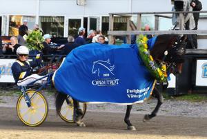 Ulf Eriksson styrde Milligan's School till seger i Sundsvall Open Trot förra året.