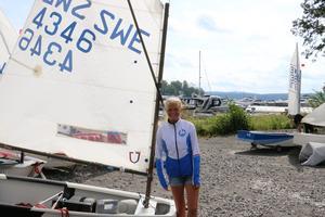 Lovis Kläre har ägnat seglarveckan åt att förbereda sig  inför kommande klubbmästerskap.