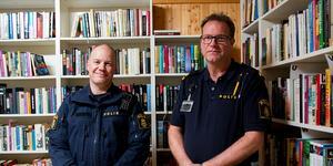 Johannes Persson och Jan Olsson från polisen berättade om läget när det gäller brottslighet i Nordanstigs kommun.