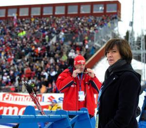Mona Sahlin har bland annat besökt skidskytte-VM i Östersund 2008, enligt Socialdemokraterna i Östersund är hon den mest idrottsengagerade partiledaren.Foto: Anders Wiklund/SCANPIX