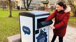 Smarta soptunnor i Västerås. Foto: Annika Hedenrud