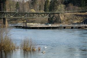 Arbetet med järnvägsbron över Ljungan står still tills utredningen är klar.