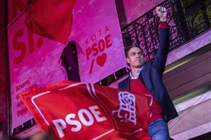Spaniens premiärminister och Socialistpartiet PSOEs ledare Pedro Sánchez. Foto: AP Photo/Bernat Armangue.