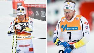 Charlotte Kalla fick en genomkörare i sprinten men Emil Jönsson får fortsätta jaga en OS-plats. Bild: TT.
