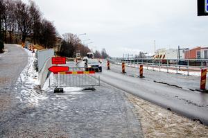 Under torsdagen är trafikstörningarna över på Skönsbergsvägen. Då tas de tillfälliga trafikljusen bort.