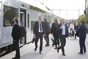 Energi- och digitaliseringsministern Anders Ygeman kom till Gävle 18 september tillsammans med sin pressekreterare Fredrik Persson.