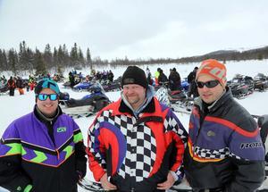 Svein Storm, Olaf Anders Stormyr och Hovar Thorset åkte 40 mil för att vara med i Ljungdalen