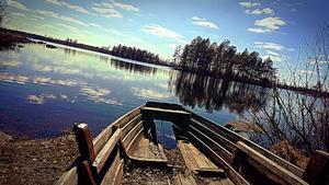 En underbar dag vid Öjesjön, Öjesjöbrännan den 14 april. Foto:  Johan Pettersson