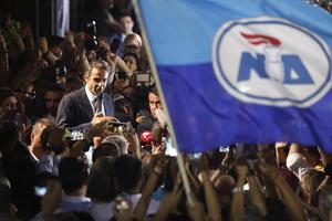 Nyvald. Kyriakos Mitsotakis är Greklands nya premiärminister. Foto: Thanassis Stavrakis / AP
