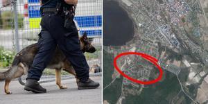 Inbrottet inträffade i bostadsområdet Svedjan. Bilden är ett montage. Foto: TT/Google Maps
