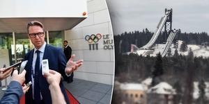 Mats Årjes, ordförande i Sveriges Olympiska Kommitté  i Lausanne inför måndagens omröstning om vinter-OS 2026. Foto: Stina Stjernkvist, Christian Larsen