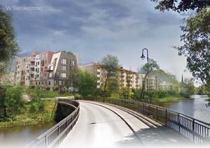 Förslag i av Anders Garpelin kritiserad detaljplan.                                Ur detaljplan