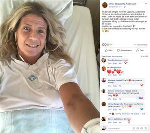 I januari 2018 började Ulrica Andersson bli sjuk igen. I augusti hittade läkarna felet, det har varit stopp i en ven, så pass illa att det gått hål på den.