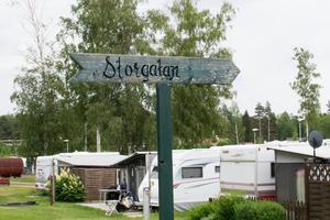 Campingen har egna gator och småvägar.