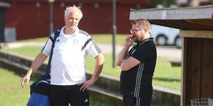 Harald Luther (vänster) fick inte se sitt Rimbo säkra kontraktet mot Sollentuna