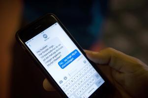 SMS från en agent, det blir många meddelanden och samtal under dagen.