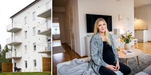 Elin Berglund och Fredrik Sjöberg stortrivs i sitt nya hem.