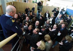 Falu tingsrätt den 11 april 2008, då Anders Eklund häktades för att ha rövat bort Engla. Bild: Mikael Forslund