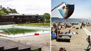 Skribenten vill att kommunen köper tillbaka Tranviken och återupplivar havsbadet. Bilder: Annika Sohlander Cassel / Leif Johansson
