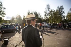 Börje Hagström inledde invigningen och berättade om sin vision.