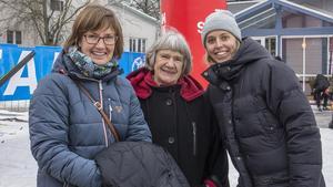 Anna Ek, Aina Ek och Sara Ek var på plats för att heja på Kristian Ek.