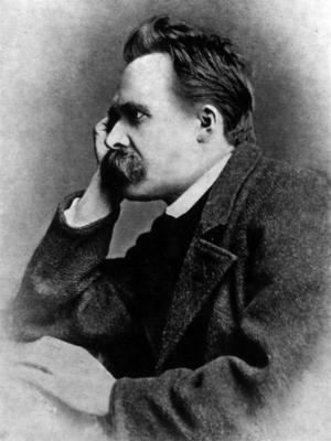 Den tyske filosofen Friedrich Nietzsche. Bilden är tagen av Gustav-Adolf Schultze 1882.