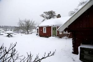 Skolhusen på Vidinge. Här placerades Leonard Söderman, Algot Norberg samt Wilhelmina Sundell efter att de hittats på isen. Foto: Anders Sjöberg