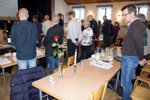 En tyst minut hölls för Mia Bergkvist (S)