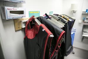 Var sak på sin plats. Utrustning i anslutning till den sterila korridoren.