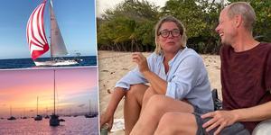 Pål Dufva, från Örnsköldsvik och Lina Fredin, från Hudiksvall, är ute på en långsegling och sitter just nu fast i Karibien, ankrade på södra Martinique, med 800 andra båtar från hela världen i samma situation.