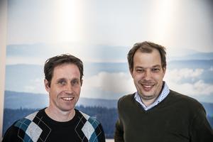 Två av de deltagande företagarna är Jan Hallberg (från Pelle och Lisa i Nälden) samt Bengt Myhrman (från Minitube i Trångsviken).