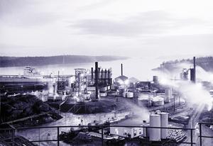 Raffinaderiet någon gång under 1950-talet.