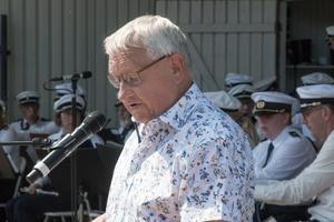 Stig Jäderlund från Arboga Musikförening var konferencier.
