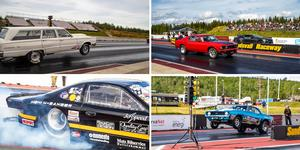 Blandad mix av bilar på dragrace tävlingen, bild: Hans Eriksson