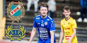 Max Holmberg som leder den interna skytteligan efter halva säsongen hoppas på mer mål framåt.