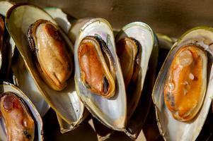 Rökta musslor.