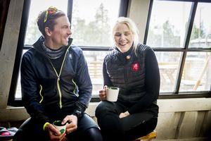 Johan och Anna Olsson trivs med att jobba tillsammans.