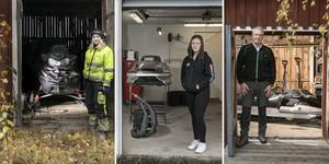 Skoterägarna Sabina Bengtsson, Thea Göransdotter och Anders Eriksson berättar om sina maskiner.