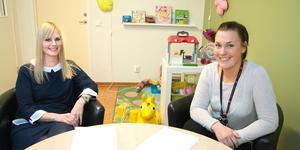 Socialsekreterarna Carina Björklund och Lisa Thornell