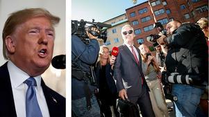 Gunnar Westlind ironiserar över rättegången mot den amerikanska hiphop-stjärnan. USA:s president Donald Trumps utsände, Robert C. O'Brien,  på väg till huvudförhandlingen mot hiphopartisten ASAP Rocky för att se till att den svenska rättvisan sköter sig. FOTO: Fredrik Persson/TT