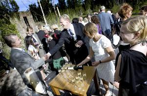 Furuviksparkens vd Tom Widorson välkomnade flera prominenta gäster till invigningen av det nya