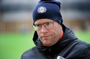 Joel Cedergren lockade många skratt på upptaktsträffen när han berättade om lagets reaktion.