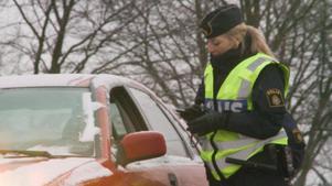 Den dömde mannen stoppades av polis mitt på dagen.  Foto: Anna Eriksson/ScanpixBilden har ingenting med den aktuella domen att göra.