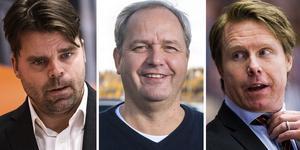 Molin, Sundlöv och Dackell jobbar nu tillsammans för Brynäs bästa. Foto: Bildbyrån.