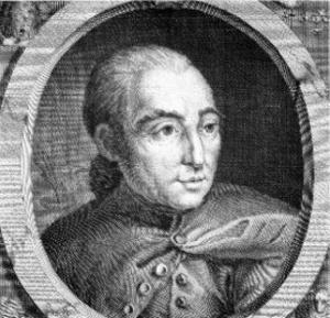 Porträtt av Rétif de la Bretonne. Okänd konstnär.