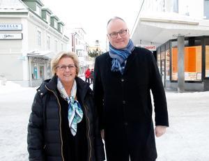 Lena Asplund (M) och Per Wahlberg (M), Moderaternas toppnamn i regionfullmäktige.