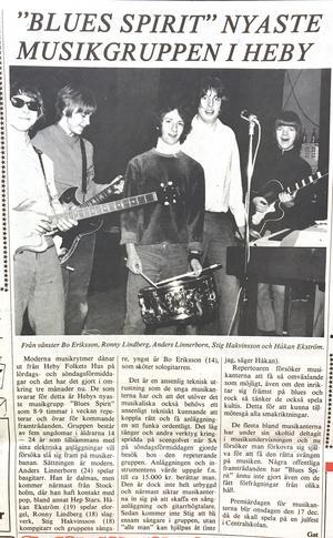 """Ur SA 11 december 1969. Här råkade kusinen Håkan Ekstrand få fel efternamn. """"Det var en rolig tid när vi spelade ihop"""", säger Ronny Lindberg, då 18 år, nu 68."""